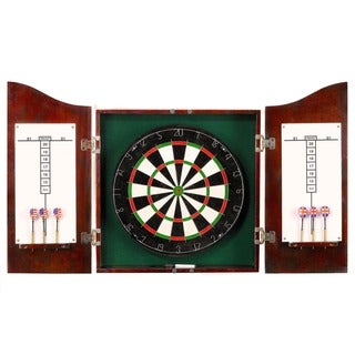 Link to Hathaway Centerpoint Solid Wood Dartboard & Cabinet Set - Dark Cherry Finish Similar Items in Billiards & Pool