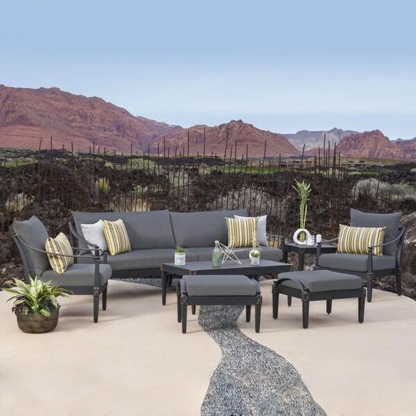 RST Brands Astoria Outdoor 8 Piece Sofa And Club Chair Set