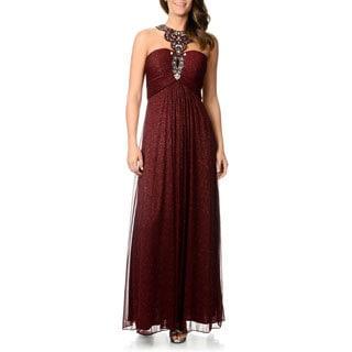 Cachet Women's Glitter Knit Novelty Gown