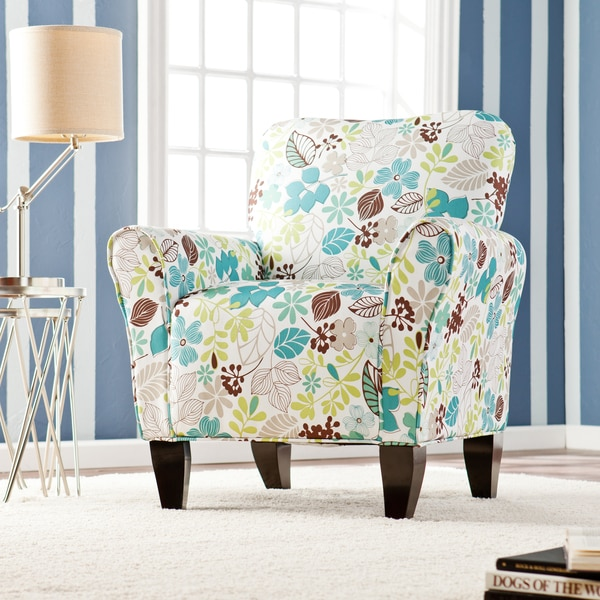 Harper blvd margo teal floral upholstered arm chair free shipping