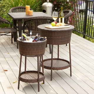 Phaedra Wicker Bucket 2-piece Set by Christopher Knight Home
