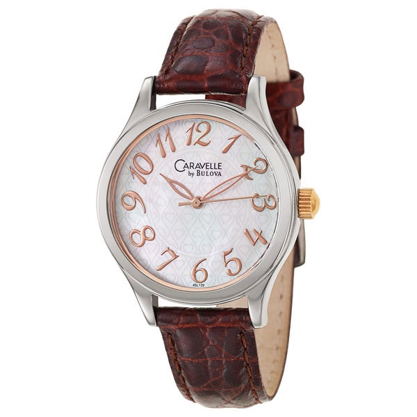 Caravelle by Bulova Women's 'Dress' Rose Gold Plated Stainless Steel Japanese Quartz Watch