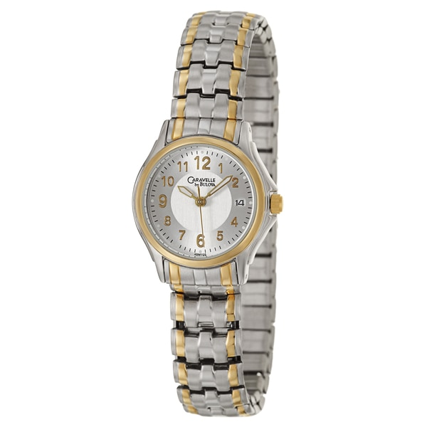 Caravelle by Bulova Women's 45M105 'Dress' Rose Gold Plated Stainless Steel Japanese Quartz Watch