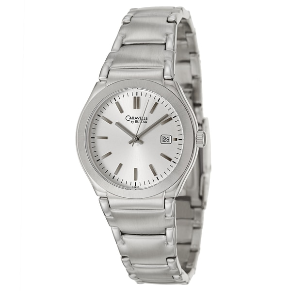 Caravelle by Bulova Men's 'Dress' Silvertone Stainless Steel Round Case Japanese Quartz Watch