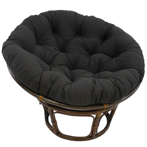 Blazing Needles 44-inch Solid Twill Papasan Cushion