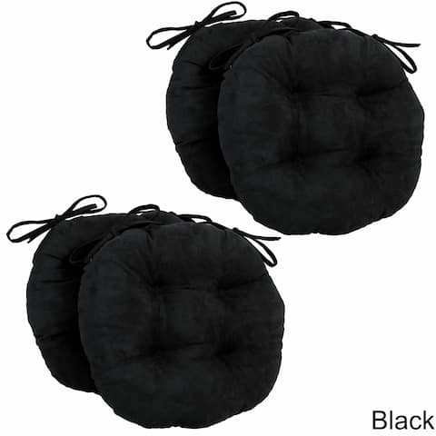 Blazing Needles 16-inch Round Microsuede Chair Cushion (Set of 4)