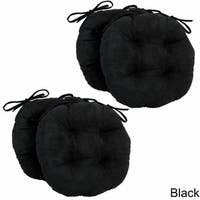 Blazing Needles 16x16-inch Round Microsuede Chair Cushions (Set of 4)