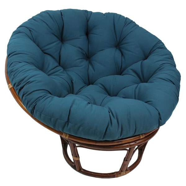 blazing needles 48 inch solid twill papasan chair cushion free shipping today overstock. Black Bedroom Furniture Sets. Home Design Ideas