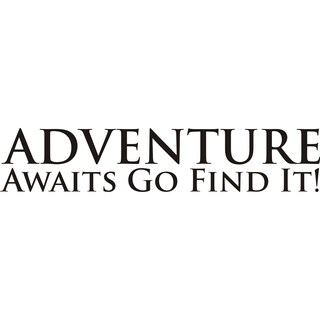Design on Style Adventure Awaits...Go Find It' Vinyl Art Quote Quote