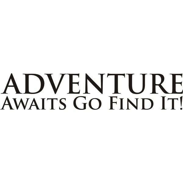Shop Design on Style Adventure Awaits...Go Find It' Vinyl ...