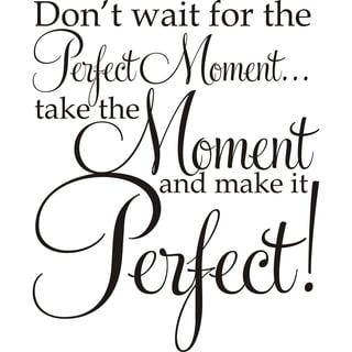 Design on Style Don't Wait For The Perfect Moment ...Take The Moment And Make It Perfect!' Vinyl Art Quote
