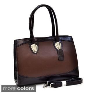 Dasein Two-tone Silvertone Hardware Shoulder Bag