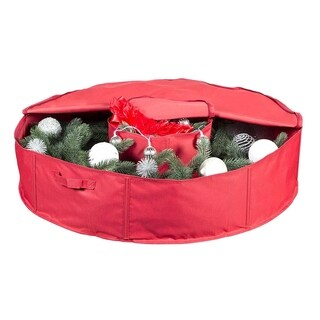 Red Center Storage 36-inch Holiday Wreath Bag