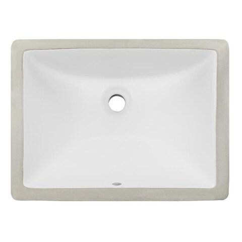 Phoenix Geyser White Vitreous Porcelain 16-inch x 11-inch Undermount Bathroom Sink