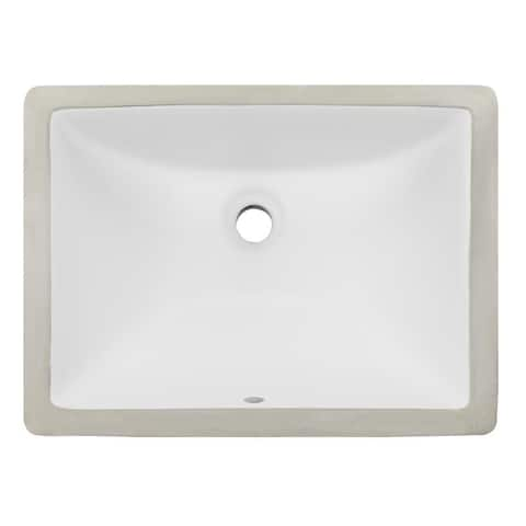 Ticor White Vitreous Porcelain Undermount Bathroom Sink