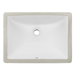 Geyser White Vitreous Porcelain Undermount Bathroom Sink (16 x 11 inches)