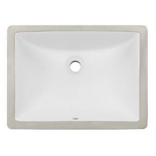 Phoenix Geyser White Vitreous Porcelain 16-inch x 11-inch Undermount Bathroom Sink