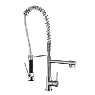 Ruvati 28-inch Stainless Steel Commercial Style Pre-rinse Spray Kitchen Faucet