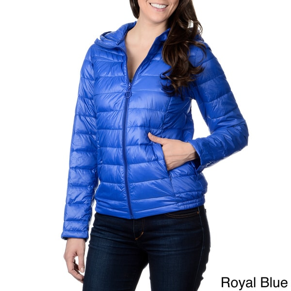 Leonardo Women's Hooded Faux Down Quilted Jacket
