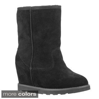 Lugz Women 'Chakra' Suede Hidden Wedge Ankle Boots - Free Shipping ...
