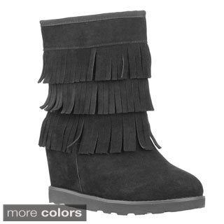 Lugz Women's 'Wenona' Suede Hidden Wedge Fringe Boots