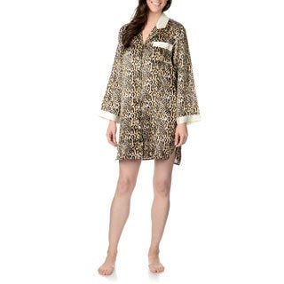 SoulMates Women's Animal Print Sleep Shirt