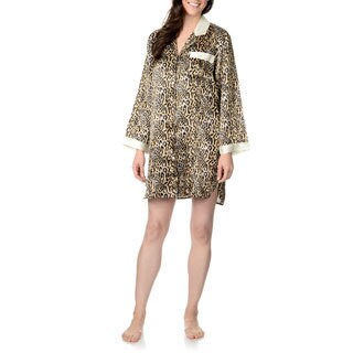 SoulMates Women's Animal Print Sleep Shirt