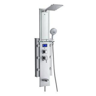 Blue Ocean 50-inch 6-nozzle Aluminum Shower Panel Tower