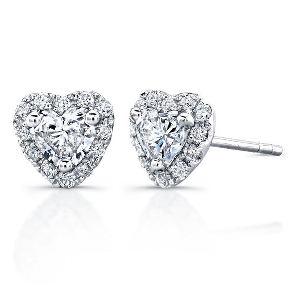 Victoria Kay 14k White Gold 3 5ct Tdw Diamond Heart Shape Stud Earrings