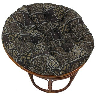 "Blazing Needles 44-inch Exotic Tapestry Papasan Cushion - 44"" x 44"""