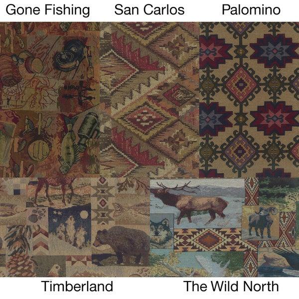 Blazing Needles Western 48-inch Tapestry Papasan Cushion
