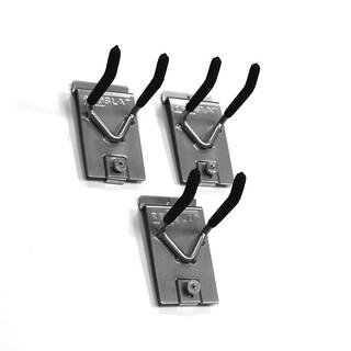Proslat 4-inch Locking Silver Dual-hook (Pack of 3)