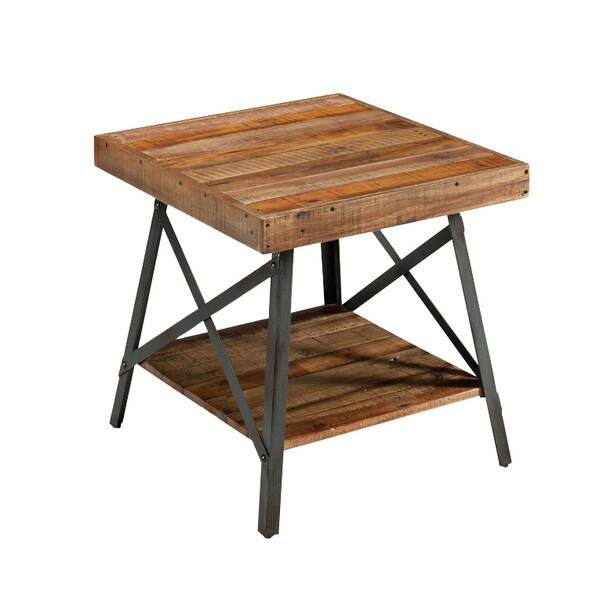 Charmant Pine Canopy Kaibab Reclaimed Look Wood End Table