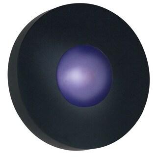 Dalya 1-light Round Black Flush Mount Wall Sconce