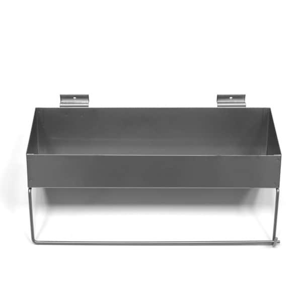 Proslat Paper Towel Holder/Shelf, Silver