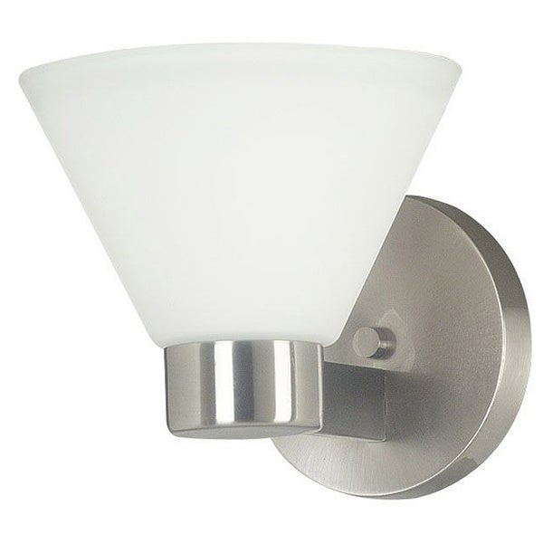 Easton 1-light Brushed Steel Wall Sconce
