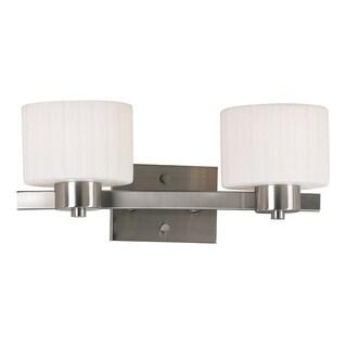 Mountjoy 2-light Brushed Steel Vanity