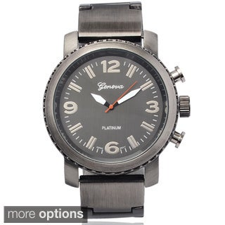 Geneva Platinum Men's Stainless Steel Round Dial Watch