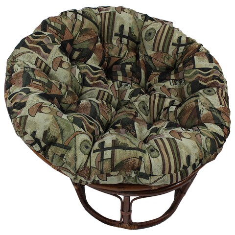 Blazing Needles Contemporary 48-inch Tapestry Papasan Cushion