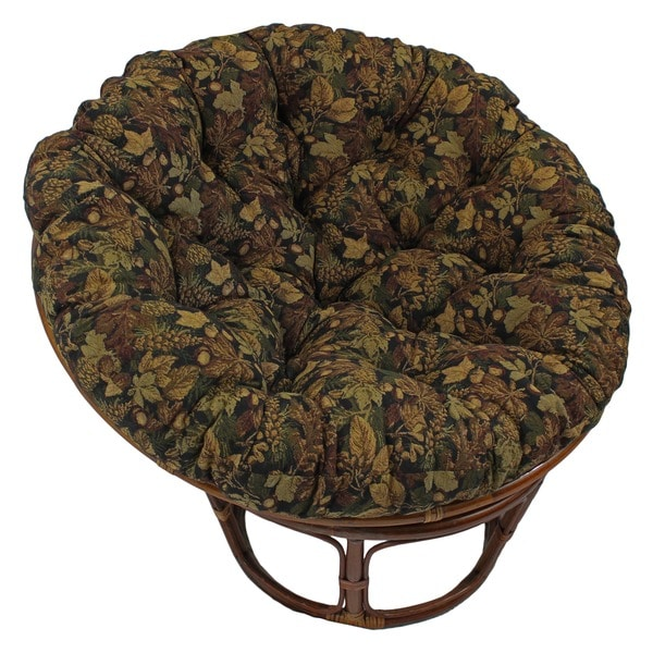 Blazing Needles Floral Collection 48-inch Tapestry Papasan Cushion
