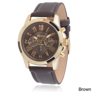 Geneva Platinum Women's Faux Leather Chronograph Watch