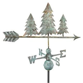 Pine Trees Blue Verde Copper Weathervane by Good Directions|https://ak1.ostkcdn.com/images/products/8822744/P16055732.jpg?impolicy=medium