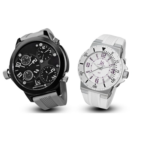 Joshua & Sons Men's Minute Track, Multifunction Strap Watch Set