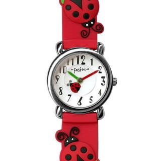 Fusion Kids' Ladybug Watch|https://ak1.ostkcdn.com/images/products/8822792/P16055759.jpg?impolicy=medium