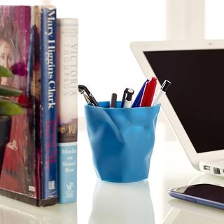 Lava Blue Modern Pencil Holder|https://ak1.ostkcdn.com/images/products/8822815/Lava-Blue-Modern-Pencil-Holder-P16055762.jpg?impolicy=medium