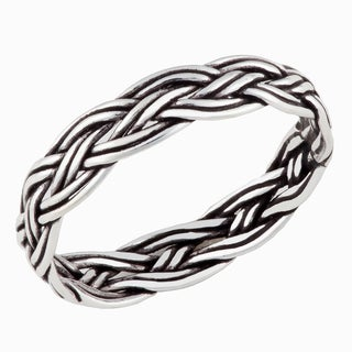 Handmade Sterling Silver Celtic Weave Fashion Band (Thailand)