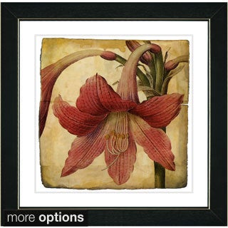 Zhee Singer 'Vintage Botanical No 01 - Antiqued' Framed Fine Art Print
