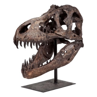 Mercana Extra Large Resin Tyrannosaurus Skull and Stand
