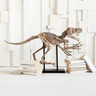 Mercana Large Resin Triassic Bone Sculpture and Metal Stand
