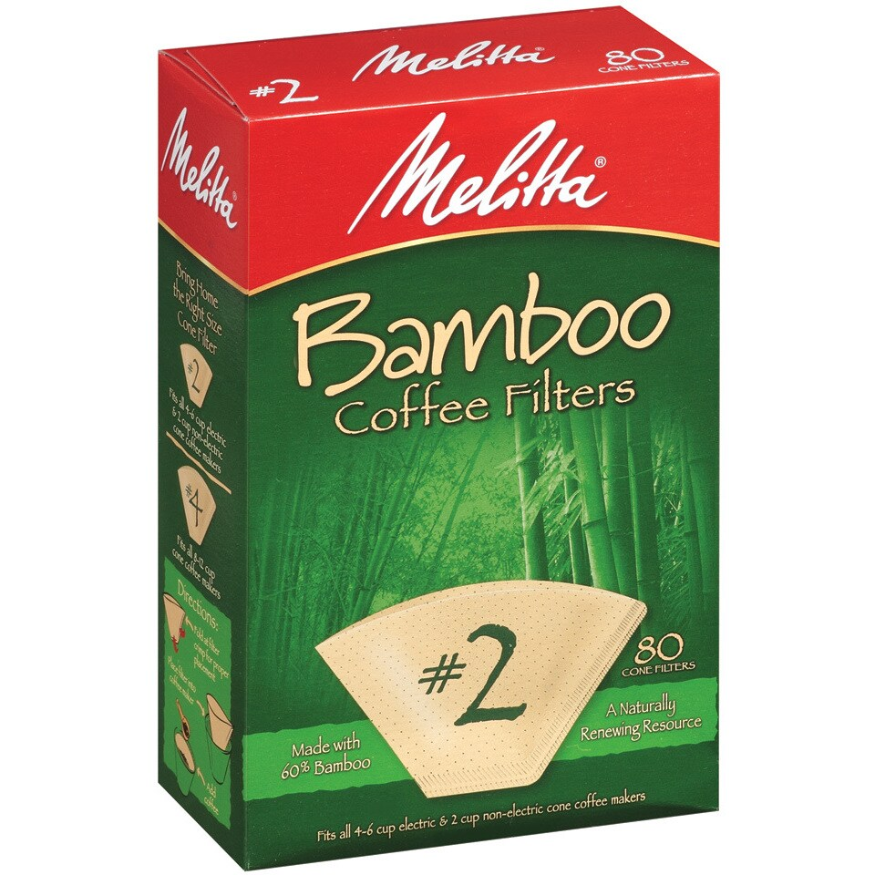 Melitta 2 Bamboo Paper Cone Coffee Filters (Pack of 160) ...